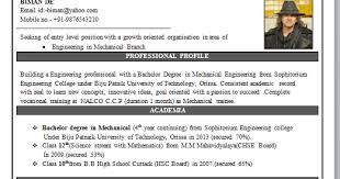 Fresher Resume For Mechanical Engineer     Resume Examples D Mechanical Engineer Contact Nos                                  E Mail