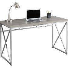 monarch specialties i 7204 48 computer desk in dark taupe chrome metal