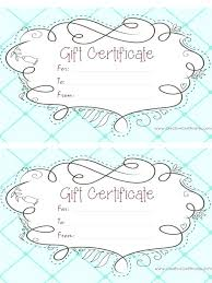 Snowman Sample Gift Certificate Pages Template Free Download