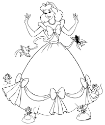 free printable cinderella coloring pages for kids arts crafts free printable free and princess