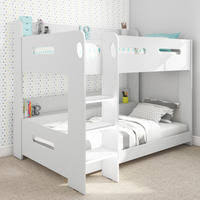 childrens bunk beds. Sky White Bunk Bed - Ladder Can Be Fitted Either Side! Childrens Beds T
