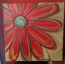acrylic canvas painting ideas love painting these funky daisies i have painted several sets