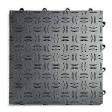 12 in x 12 in diamond graphite modular tile garage flooring 24