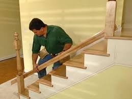 How To Hardwood Stairs How To Install New Stair Treads And Railings How Tos Diy