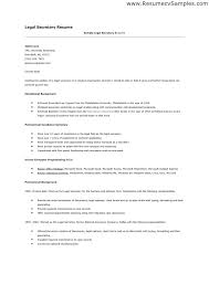 Legal Secretary Resume Template Best of Examples Of Secretary Resumes Legal Assistant Resume Samples Legal