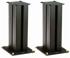 speakers and stands. picture of target mr speakers stands (pair) and