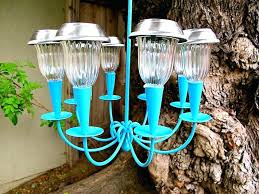 outdoor solar chandelier make a cute solar powered outdoor chandelier for your backyard use a thrift outdoor solar chandelier