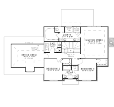 colonial house plan second floor 055d 0406 house planore