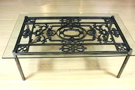 cast iron and glass coffee table wrought iron coffee tables wrought iron coffee tables with glass