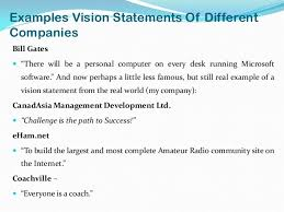 my vision statement sample vision and mission of companies