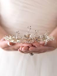 Designer Wedding Tiaras Uk Wedding Tiara Gold Floral Tiara Rose Gold Bridal Tiara