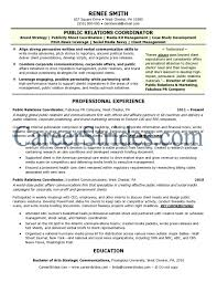 Cover Letter Public Relation Director Resume Public Relation
