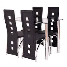 breakfast furniture sets. Costway 5 Piece Dining Set Glass Table And 4 Chairs Home Kitchen Breakfast Furniture 2 Sets I