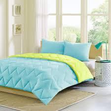 details about beautiful reversible soft blue green lime aqua teal chevron stripe comforter set