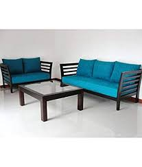 wooden sofa design. Exellent Design Woodkartindia Modern Design Wooden Sofa Set With Cushion Without Center  Table 32 And