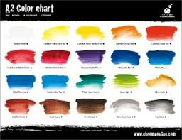 Fw Inks Colour Chart A2 Art Students Acrylics Highly Strung Art Supplies Sunshine