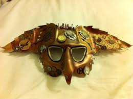custom made hand made leather mask steampunk