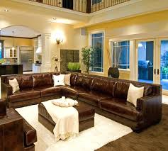 brown leather couch living room ideas leather sofas living room large