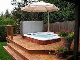 hot tub backyard hot tub patio