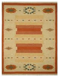 carpets hand woven flat weave wool rug contemporary white rust southwestern area rugs by get my striped vintage flat weave wool rug for kilim