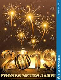 Buon Anno 2019 - Cartolina D'auguri In Tedesco Illustrazione di Stock -  Illustrazione di decorazioni, penombra: 129351747