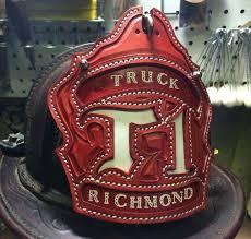 firefighter helmet shield holder leather front shields