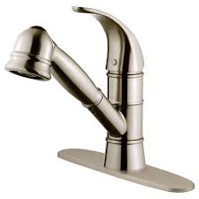 Kitchen Faucets Brushed Nickel Lk14b Brushed Nickel Finish Pull Out Kitchen Faucet