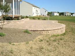 how to pour a concrete patio against a house large size of to build a raised stone patio raised patio drainage