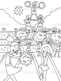 Small Picture Cheerleading Coloring Pages coloringsuitecom