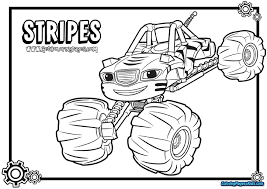 Blaze And The Monster Machines Printable Coloring Pages Coloring