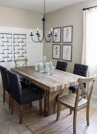 chandelier dining room captivating modern farmhouse dining room sets brown plaid rug