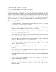 team lead job description resume perfect resume  front