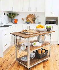 Black Kitchen Island Cart With Stools Small Utility Table Bench On