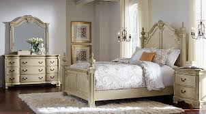 Cortinella Cream 5 Pc Queen Poster Bedroom   Queen Bedroom Sets Light Wood