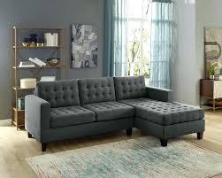 chaise sectional sofa 2 ash black linen like fabric reversible chaise sectional sofa adjule sectional sofa chaise sectional sofa