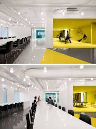 office define. This Contemporary And Open-concept Office Design Is Mostly White, However Bold Pops Of Color Have Been Used To Define Various Areas Throughout The Interior. F
