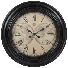 map of the world wall clock hobby