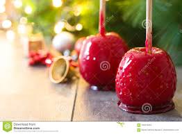 Candy Christmas Lights Candy Christmas Apples And Christmas Lights Copyspace Stock