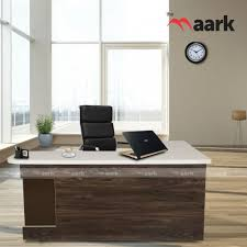 Image Office Interiors Zen Office Table With Side Unit The Maark Trendz Office Table Buy Online Executive Table Modern Executive Office