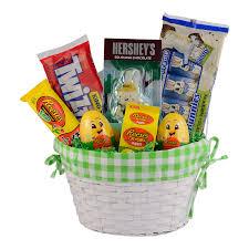 green candy filled easter basket