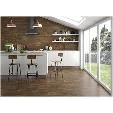 acadia brown matt wood look ceramic floor and wall tile just 0 99 per square foot
