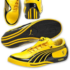 puma shoes logo. puma ferrari leather sl street shoes yellow logo