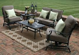 outdoor seating clearance outdoor seating sets patio conversation sets clearance 5 piece deep seating furniture set