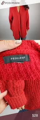 Primark Size Chart Primark Red Terry Cloth Cardigan Size 2x 18w Primark Uk