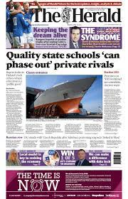 Scotland's papers: State schools report and royal 'peace talks' - BBC News