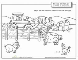 Farm Animals Worksheet Educationcom