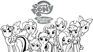 Ponies Coloring Pages My Little Pony Colouring Page 4 Miniature Pony