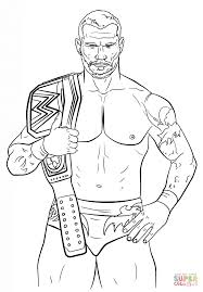 Small Picture Randy Orton coloring page Free Printable Coloring Pages