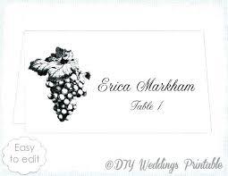 Free Wedding Place Card Template Beautiful Word 6 Per Sheet