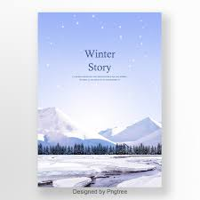 Snow Templates Winter Snow Mountain Blue Poster Template For Free Download On Pngtree
